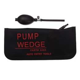 2019 hu64 lock pick Grande tamanho Air Wedge bomba de ar cunha Desbloqueável Inflável Porta Do Carro porta Almofada de Ar Poderoso Mão Bomba de cor preta