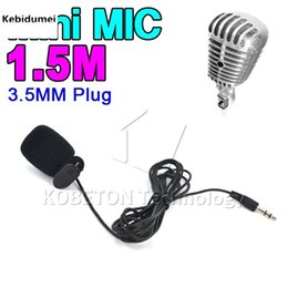 Wholesale Usb Camera Microphone - Wholesale-New Hot Sale Microphones camera accessories Protable Mini USB to 3.5mm Mic Microphone Adapter Cable Cordfor Sports Camera