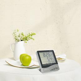 Canada Thermomètre numérique LCD Hygromètre Température Humidité Mètre Capteur d'humidité Humidité Capteur Station météo intérieure-extérieure Réveil supplier humidity meter alarm Offre