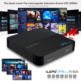 Wholesale free hdmi - iLEPO IP96 Mini Android TV Box 2GB 16GB Amlogic S905W Android 7.1 With 20000+ Free Vod Quad Core Media Player Better TX3 X96 mini S912