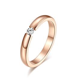 2019 le ragazze squillano il formato delle dita Anello di fidanzamento per le donne in acciaio inox argento color oro dito ragazza regalo formato USA 5 6 7 8 9 10 all'ingrosso di gioielli le ragazze squillano il formato delle dita economici
