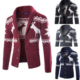 weihnachts-cardigan-männer Rabatt Herren Winter Weihnachten Pullover  Strickjacke Xmas Strickwaren Mantel Jacke Sweatshirt c08c8c6140
