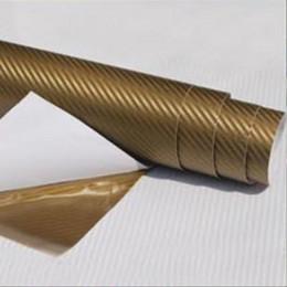 Wholesale vehicle decal wraps - Top Selling 30*127cm Waterproof 3D Carbon Fiber Vinyl Wrap Sheet Roll Film Car Sticker Decal Sheet For Car Auto Vehicle Detail