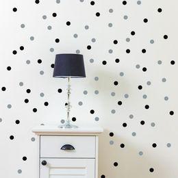Круглая стенная панно онлайн-120/70 PCS Polka Dot Wall Sticker Removable Wall Decal Eco-Friendly Circle Round Stickers Artistic Design Wallpaper Mural