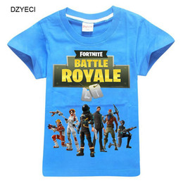 Wholesale Tee Shirts For Kids - Summer Fortnite T Shirt For Teenager Boy Girl Tee Clothes Fashion Kid Short Sleeve Cartoon Cotton Tank Children Top