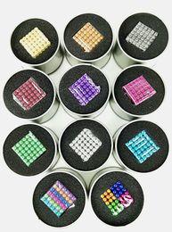 2019 remendos de animais bordados por atacado 12 opções de estilo de cores Ímã de jogo MagnetiCube 216pcs por lote de Dia5mm, crianças brincam grânulos, mudou presentes de estilo, DIY ímã de jogo