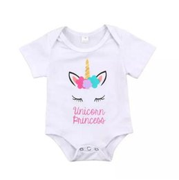 8a2a805bc73 lovely wholesale clothing kids infant clothes 2019 - Lovely Newborn Baby  Girls Unicorn Princess Romper Jumpsuit