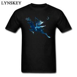 Camisas de elfo online-Elf Archer Art Design Tee Shirts Of Men 100% algodón cuello redondo manga corta camiseta de tela de calidad superior