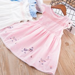 Wholesale Good Day Baby - Girl Clothing New Princess Embroidery Dress Baby Girl Short Sleeve Dresses Good Quality 3 Colors 6 p l