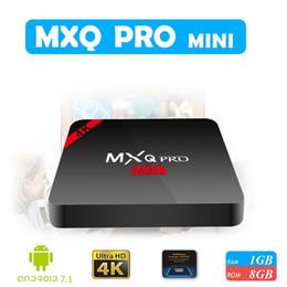 Wholesale quad movies - Newest MXQ PRO Mini Android 7.1.2 TV Box Quad Core 1G 8GB Amlogic S905W 17.6 4K Media Player IPTV Box Support 3D Free Movie