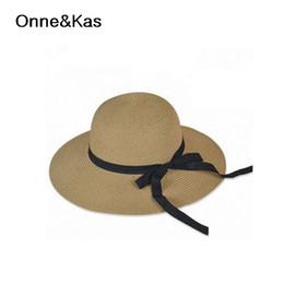 Chinese Onne Kas Summer Bohemia sun hats Women Wide Brim Beach Sun Hat  Floppy Foldable Straw For b04c1bd7ac54