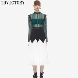 de20dd679655 Chinese Self Portrait New Arrival 2018 Spring Runway Women Party Long Dress  Lace Patchwork Hollow Out