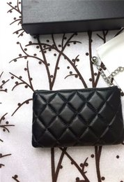 Wholesale american black caviar - Fresh lady caviar with lambskin black style women genuine leather wallets zipper design wallet bolsas femininas Carry zero purse with hand