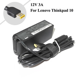 Wholesale Lenovo Thinkpad Charger - 12V 3A 36W Tablet Charger For Lenovo ThinkPad 10 ADLX36NDT2A 4X20E75066 TP00064A Laptop AC Adapter Charger Free Shipping