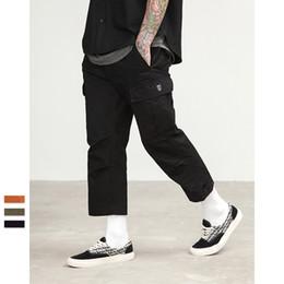 Justdon Männlicher Jogger Mode Lässig Plus Größe Capris Baumwollhose Multi Pocket Military Style Armee Grün Orange Herren hiphop Cargo Pants von Fabrikanten