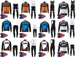 Wholesale Scott Pants - New Men scott cycling jersey cycling clothes set maillot ciclismo long Sleeves jersey KTM Ropa ciclismo MTB Cycling shirt+bib pants sets