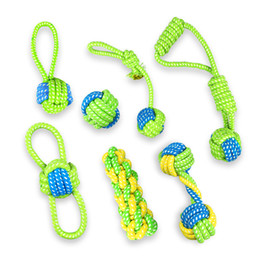 Wholesale Large Rope Dog Toy - Dog Puppies Chew Tooth Cleaning Cotton Rope with Handle Knot Bite Resistant Ball Teeth Molars Pet Toys For Large Small Dogs Free DHL