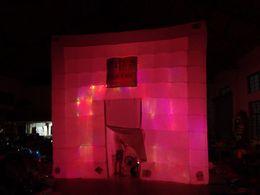 2020 tenda inflável de cubo Boa qualidade oxford grande cubo inflável tenda com ventilador tenda inflável de cubo barato