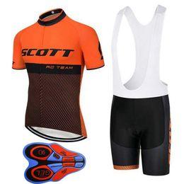 456c150f1 2018 Summer SCOTT Cycling Jerseys Suit Breathable Bicycle Shirt bib shorts  set Mens quick dry Short Sleeve Mountain Bike Clothing H1006