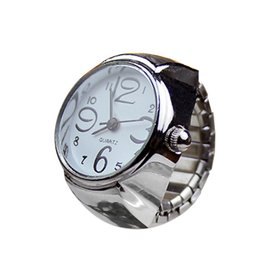 Новые эластичные наручные часы онлайн-New Dial Quartz Analog Watch Creative Steel Cool Elastic Quartz Finger Ring Watch A4114