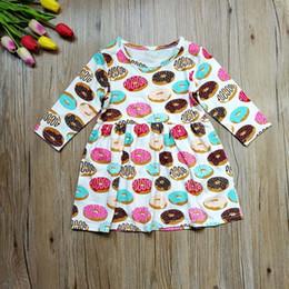Wholesale Long Cotton Beach Skirts - Girls Dress Doughnut Feather Flower Camouflage Dinosaur Printed Skirt Summer Long Sleeve Breathable Cool Half Sleeve 6M-4T