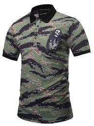 Wholesale Sleeve Ideas - Men's wear 2018 summer new ideas 3D camouflage stripe polos fashion POLOS