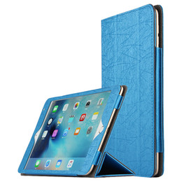 """Wholesale ipad leather stylus - Wire series Case For iPad Air 2 9.7 inch PU Leather Smart cover case For iPad 6 9.7""""+ Stylus Pen"""