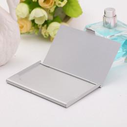 Credit Titulaire De Cas En Aluminium Cartes Visite La Carte Fichiers Couleur Argent Gravure Laser Peut Etre Personnalise
