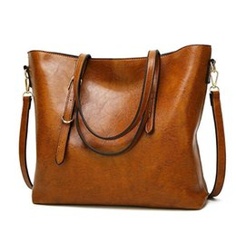 Wholesale Xl Leather Bag - Womens Leather Bags Designer Lady Shoulder Travel Satchel Purses Vintage Handbags Crossbody Ladies Tote Large Capacity Bags Shoulder Bags