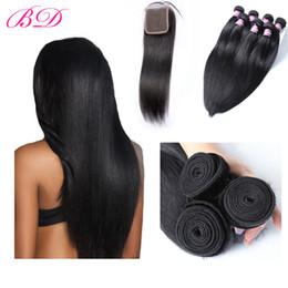 2019 tissus remi péruvien Cheveux Vierges Droite Non Transformés 100% Indien Brésilien Malaisien Péruvien Cheveux Humains 3 Fagots