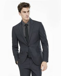 Wholesale tailor made formal pants - Tailored Made Black Men Suits Business Suits Blazer Wedding Formal Custom Tuxedo Terno Masculi 2 Pieces (Jacket+Pants) X