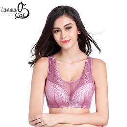 Wholesale 34d Breasts - 44 100 46 105 CD Cup Lady Bra No Steel String Bra For Big Breast Women Ultra Thin Push Up Vest Ladies Brassiere Free Shipping
