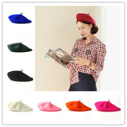 65285abe4b8 17 Color Spring Autumn Womens Wool Beret Solid French Artist Beanie Girl  Bonnet Caps Stretchy Flat Hat Stylish Painter Trilby Free Ship french beret  hats ...