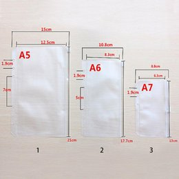Wholesale a5 file - A5 A6 A7 File Holder Standard 6 Holes Transparent High Quality PVC Loose-Leaf Pouch With Self-Styled Zipper Filing Product