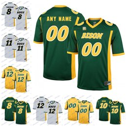 d6754f97e NCAA NDSU Bison 11 Carson Wentz 12 Easton Stick 8 Bruce Anderson 10 Lance  Dunn 16 RJ Urzendowski North Dakota State College Football Jerseys
