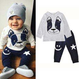 b37b6cc1d Cool 2018 spring fall boys clothes toddler boy clothing sets baby boutique  outfits unisex kids dog printed shirts long sleeve+pants 2pcs set boys  boutique ...