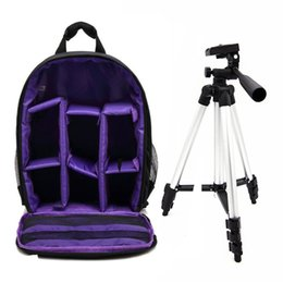 Wholesale slr stand - Waterproof Multi-functional Digital DSLR Camera Video Bag w  Rain Cover SLR Camera Bag PE Padded Photo Tripod Stand