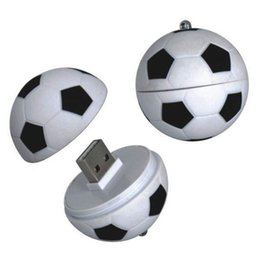 Wholesale Usb Flashing Fan - Flash Memory U DISK 4G 8G 16G 32G 64G Russia World Cup Fans Souvenir Soccer USB 2.0 Plastic Creative Personality Football Black