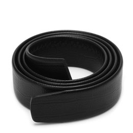 Wide Mens Black Faux Leather No Automatic Buckle Waist Belts Waistband No Holes High Quality Body Strap Designer Belts от Поставщики мужские ремни широкие пряжки