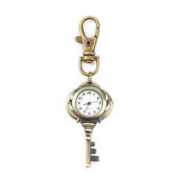 Llavero de cuarzo online-Moda unisex del regalo 2018 nuevo reloj del cuarzo del reloj de acero inoxidable llavero del bolsillo de la antigüedad del vintage Llavero