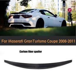 Wholesale Convertible Cars - Carbon Fiber rear trunk lip spoiler wing for Maserati GT GranTurismo GT 2 Door flat trunk 2006-2011 Non Convertible Car Cover