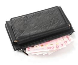 Caso móvel oppo on-line-Clipe de cinto de telefone móvel estojo de couro carteira com zíper carteira para motorola moto z3 jogar, para sony xperia xz3 / xa2 mais, oppo f9 / f9 pro