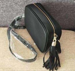 Wholesale Designer Canvas Bag - Women Fashion Bag Famous Brand Designer Shoulder Bag Tassel SOHO Bags Ladies Tassel Litchi Profile Women Messenger Bag 308364