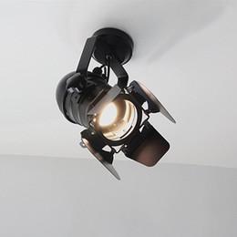 Canada Applique LED Lampes de style country américain rétro Loft Applique murale Vintage Iron Vintage pour Bar Cafe Home Lighting. cheap iron lamp wall Offre