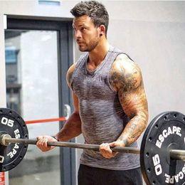 2019 singulettstrumpfhosen Mode Neue Männer Fitness Tank Top Eng Bodybuilding Workout Singlet Slim Fit Top günstig singulettstrumpfhosen