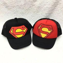 Wholesale m3 caps - 1 pcs Fashion Cartoon Superman Children Baseball Cap Boy Girl Outdoor Sunshade Hat Cute Kids Peaked Cap M3