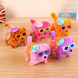 Wholesale Electronic Mini - 10 models Electronic Walking Dogs Kids Children Interactive Electronic Pets Doll Plush toys Neck Bell Barking Electronic Dog Toy Christmas