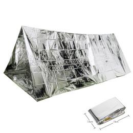 Acampamento tenda fácil on-line-PET Tenda de Filme Camada Única Manter Warm Wind Proof Shelter De Emergência Fácil de Transportar Tendas De Campismo Prático 5 88gt B