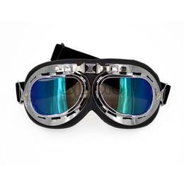 67af5381a6017 Bjmoto óculos de proteção da motocicleta óculos com lente uv da segunda  guerra mundial piloto do vintage steampunk moto gafas casco off road pilot  raf ...