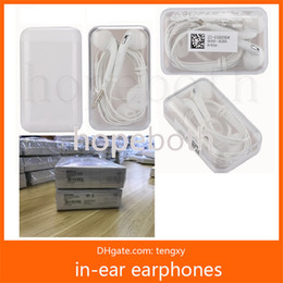 Wholesale Earphones Oem - OEM Original Quality 3.5mm Headset in-ear earphone headphone With Remote And Mic for samsung phone S6 S7 Note 5 with Retail Package